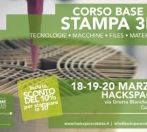 Workshop di stampa 3D a Catania