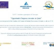 Investire in Qatar: convegno a Giardini Naxos