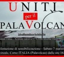 """Il SI"""" dell'Associazione 104 Orizzontale al sit-in al Palavolcan"""