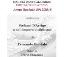 Catania: Stefano D'Arrigo o dell'impuro visibilismo