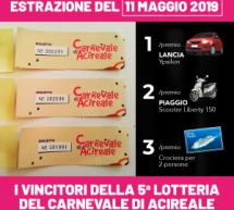 Lotteria Carnevale Acireale: ecco i vincitori