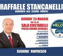 Stancanelli (FDI) ad Acireale per le elezioni europee