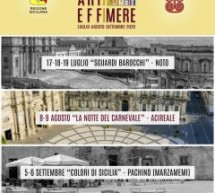 Acireale: Festival Arti Effimere 8 e 9 agosto