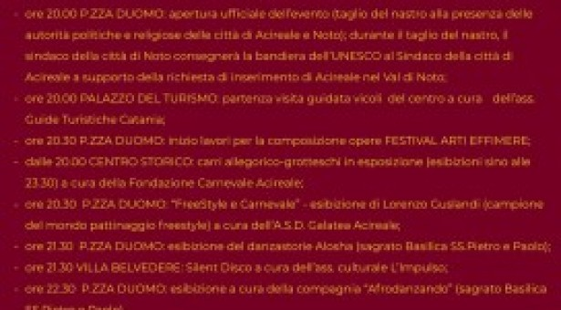 Acireale: Festival Arti Effimere, in scena