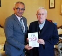 Unione Cattolica della Stampa Italiana, il neo presidente, Vincenzo Varagona ricevuto dal cardinale Gualtiero Bassetti, presidente Cei