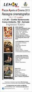 Piazze aperte al Cinema - Acireale - associazione Lemon Tour