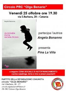 """""""Antologia della malata felice"""": Angela Bonanno presenta a Catania il suo libro"""
