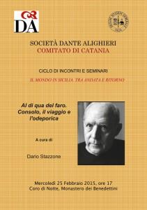 Consolo e l'Odeporica: seminario a Catania