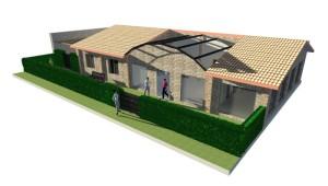 progetto la casa di toti in render 3d