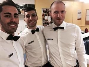 Gli alunni della Croupier Courses International: Luca La Piana , Davide Mannino e Giuseppe Consoli