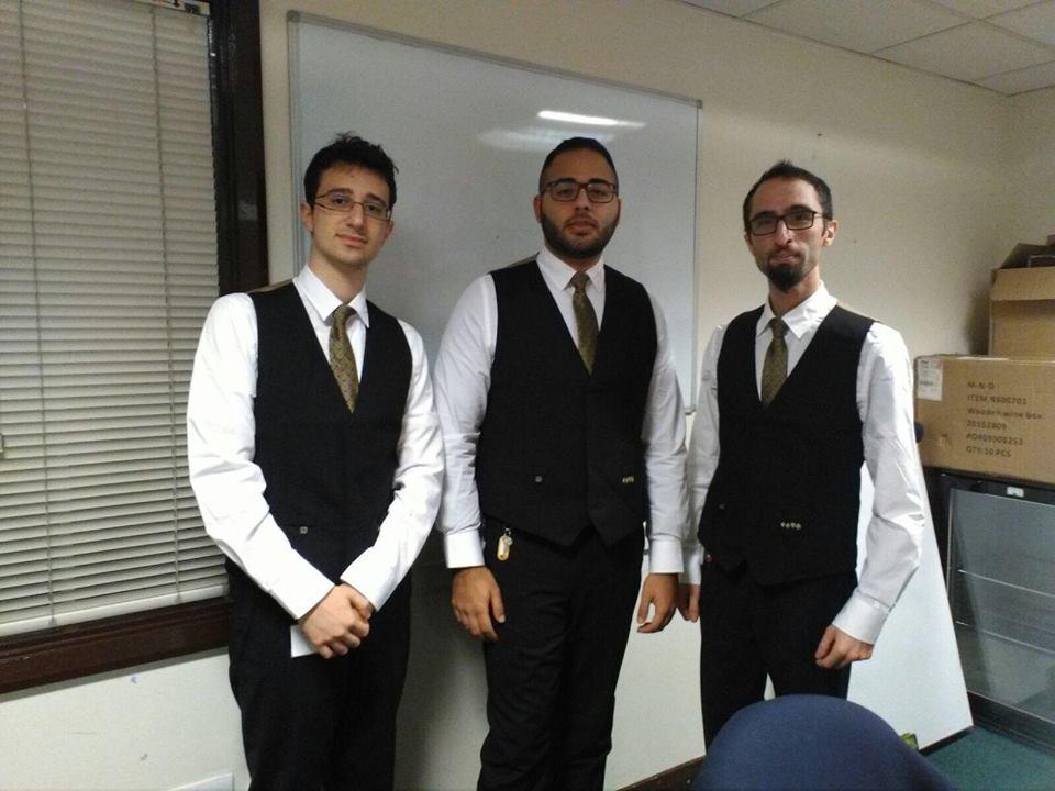 Da sinistra Javier Leandro, Gaspare Pitrone, Mauro Riccardi.