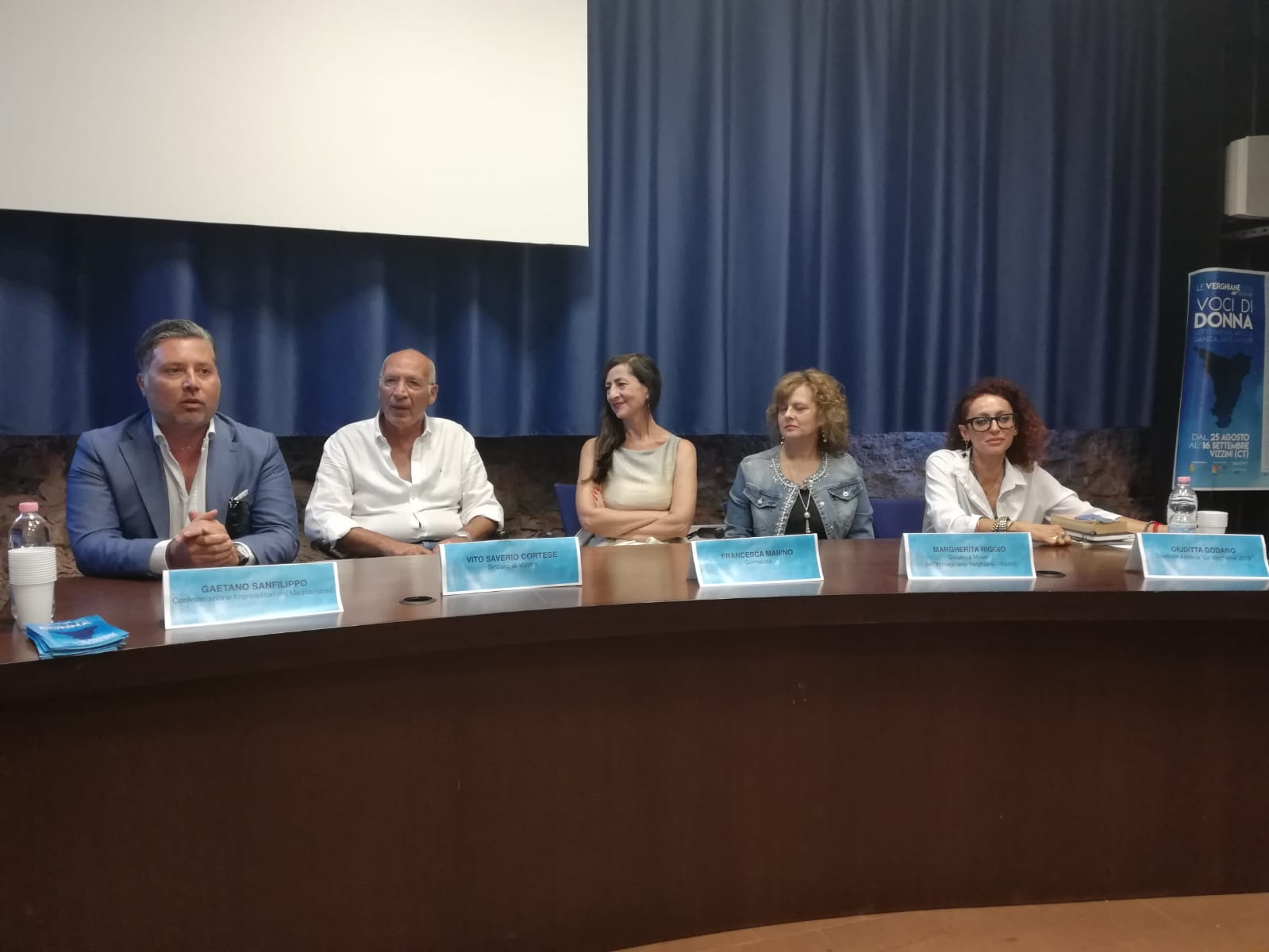 """Conferenza stampa """"Le Verghiane"""" del 24 agosto a Le Ciminiere di Catania."""