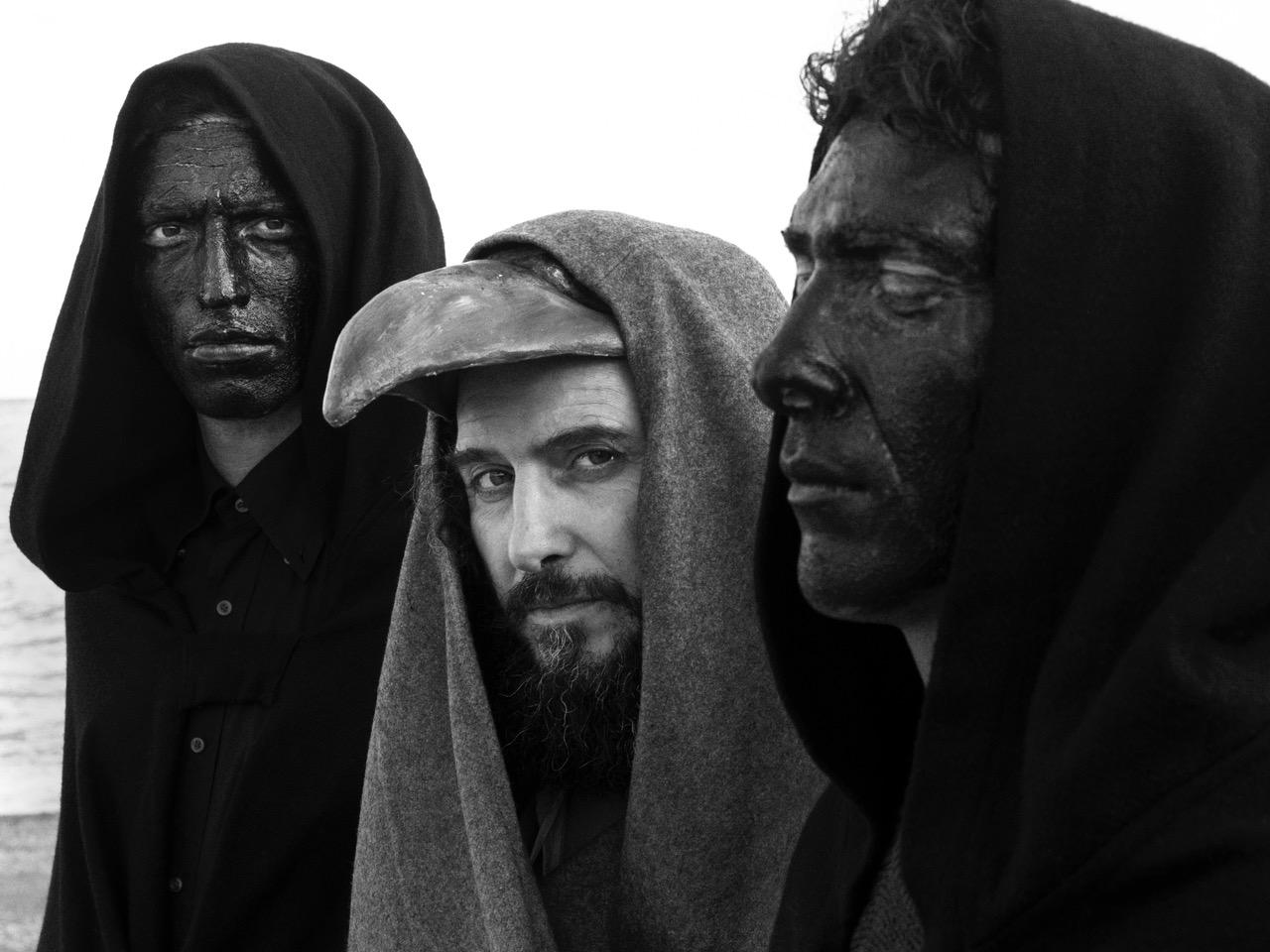 """Italy. Riace, Calabria. 2019. On the set of Vinicio Capossela videoclip """"un Povero Cristo""""."""